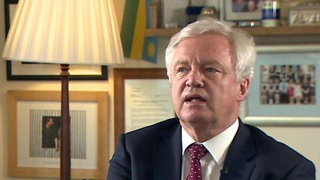 英国の決定権回復は「幻想」=辞任のブレグジット担当相