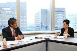 川嶋諭JBpress編集長、小野由美子WSJ日本版編集長/前田せいめい撮影