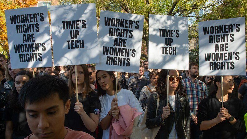 世界各地のグーグル社員、女性の扱いに抗議して会社退出