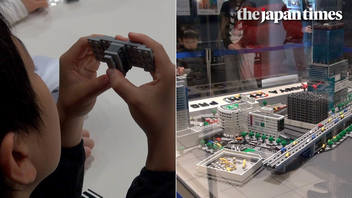 Diorama of Tokyo's Shibuya made with Legos