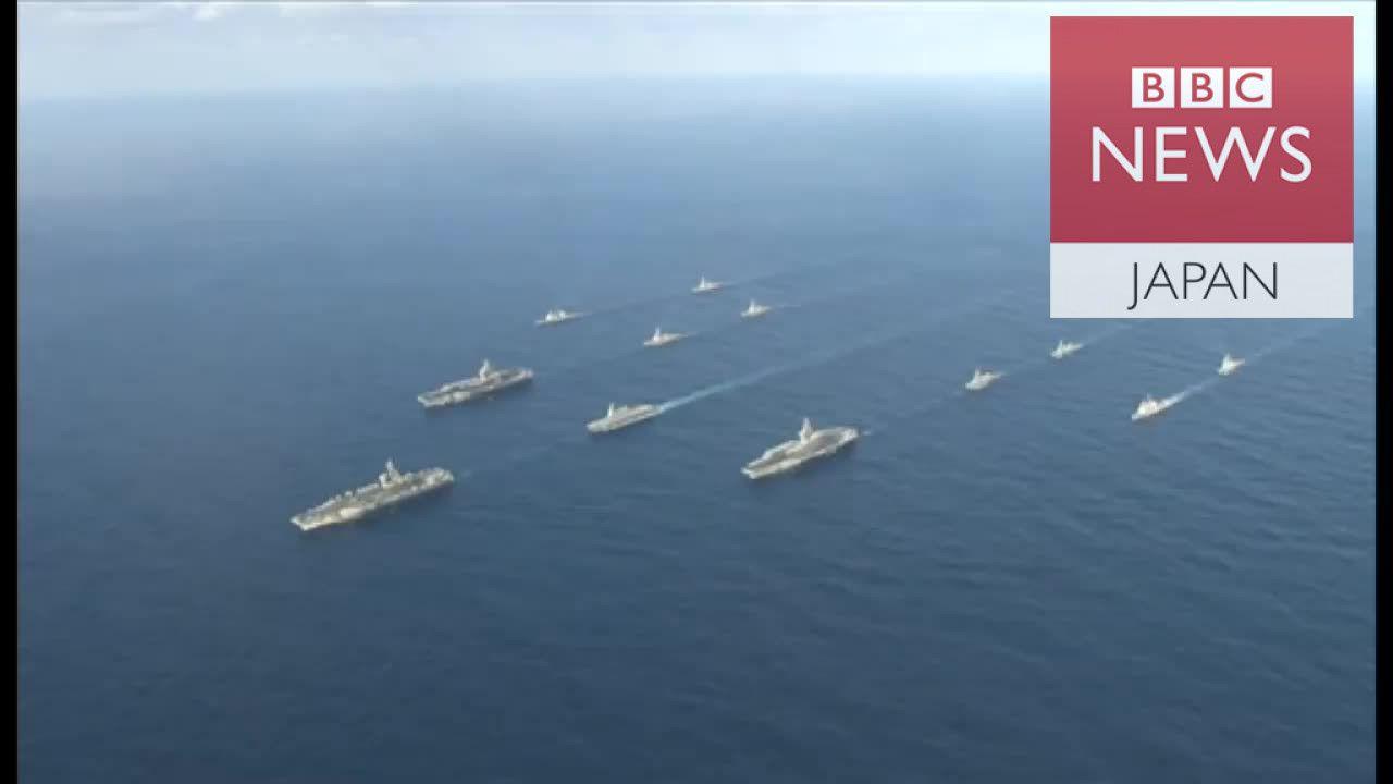 米空母3隻が西太平洋に集結 BBCが空母内を取材