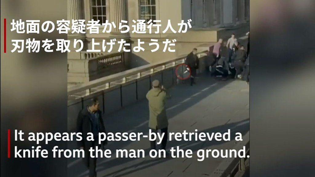 ロンドン橋の死傷事件で何が 容疑者を市民が取り押さえ