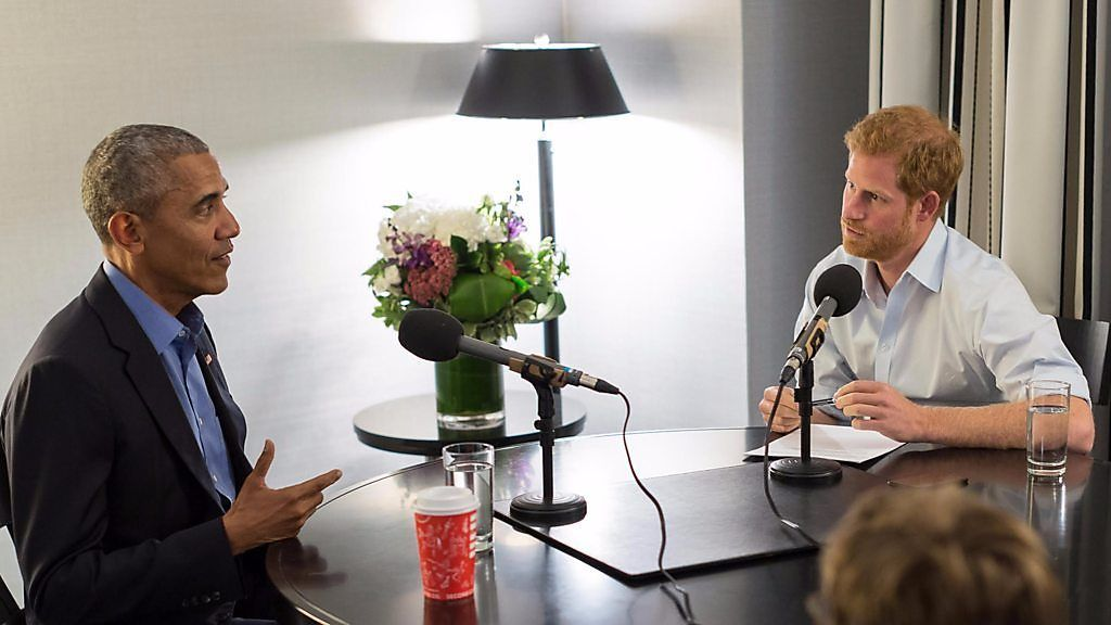 ハリー英王子がオバマ氏にインタビュー 冗談交え和やかに