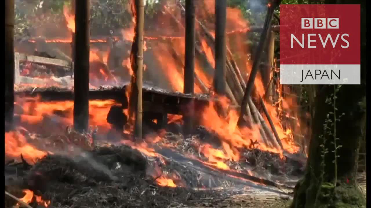 ロヒンギャの村を燃やしているのは誰か BBC記者の前で村が