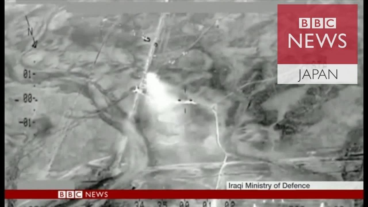 逃走するISの車列700台を空爆 イラク中部で