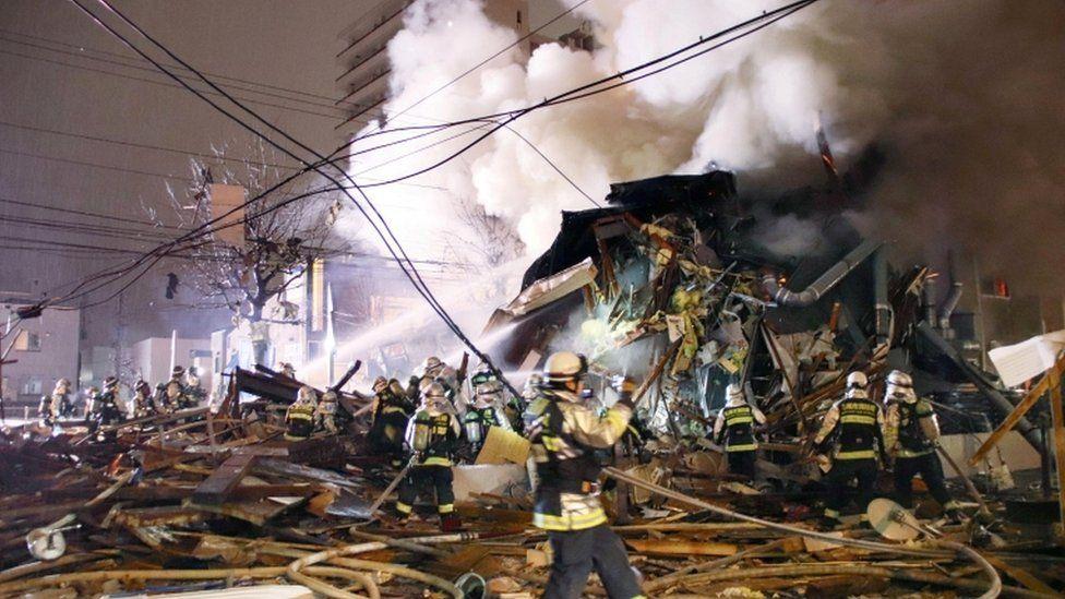 札幌で爆発、飲食店など炎上 40人以上負傷