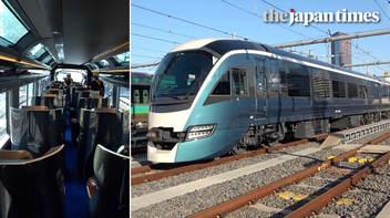JR東日本の新たな観光列車「サフィール踊り子」がメディアに公開