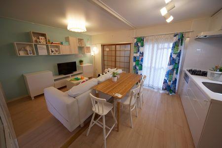 写真:イケアのキッチン付住宅(リデザイン住宅)事例