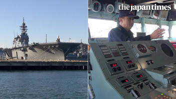 Visiting Izumo, MSDF helicopter carrier