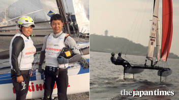Long-time sailors Kajimoto, Kawata shoot for Olympic dream