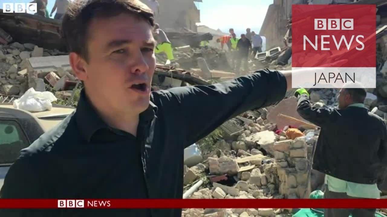 「少しだけ息できる」救助待つ女性 イタリア中部地震