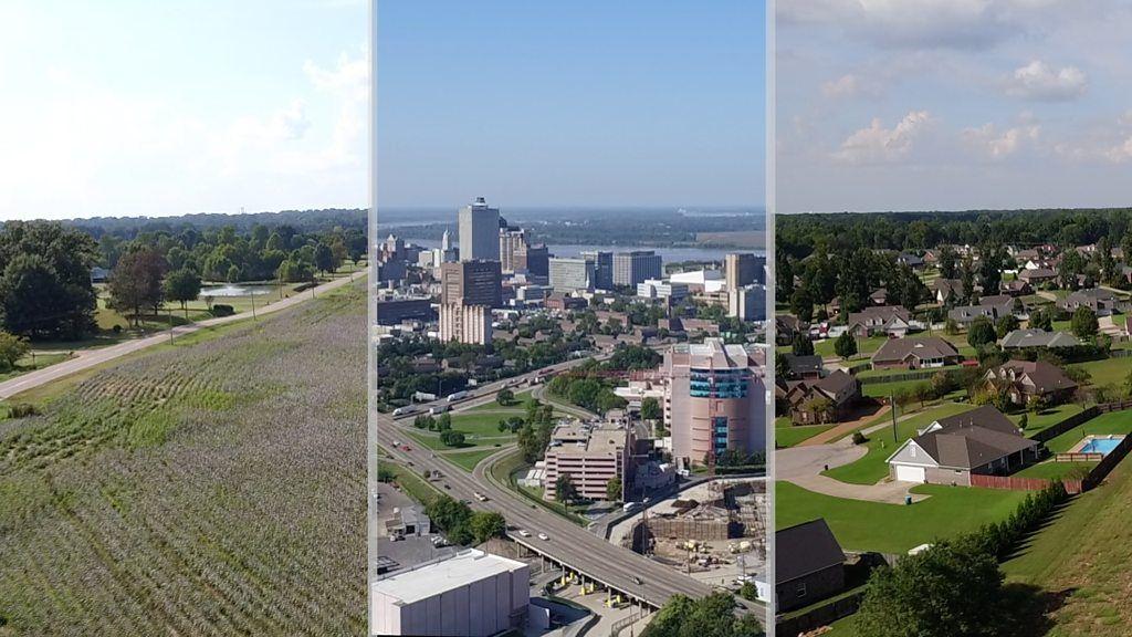 都会の米国、農村の米国 数十キロ離れた大きな分断
