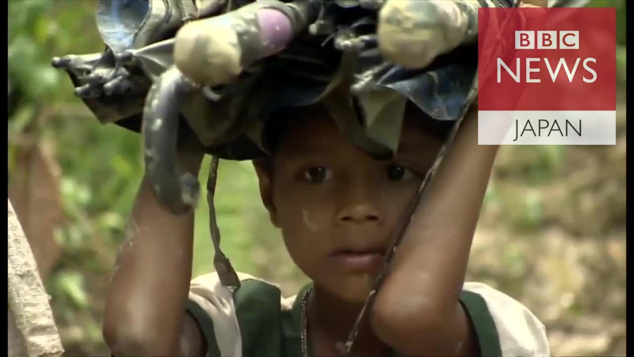 安全求めてジャングル進む ミャンマー・ロヒンギャ難民