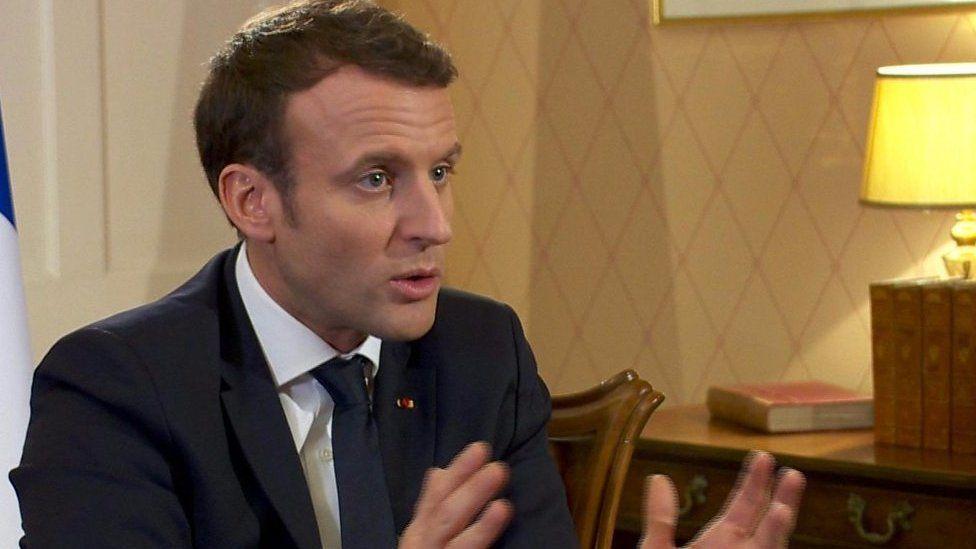マクロン仏大統領、トランプ氏は「典型的な政治家ではない」