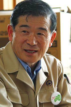 菅野典雄・飯舘村長(2011年5月21日)/前田せいめい撮影
