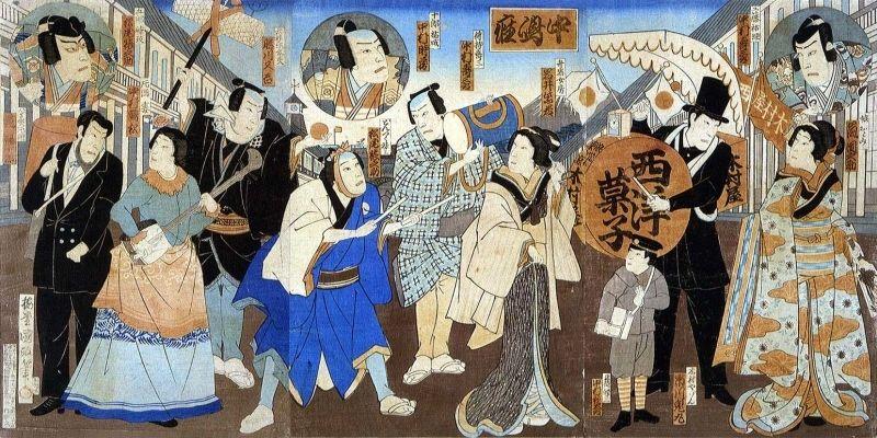 拡大画像表示 こうして、木村屋のコマーシャルソング(作詞は仮名垣魯文)が... 和洋折衷の奇跡の