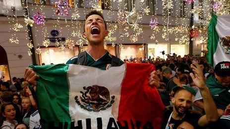 「モスクワ一番のパーティー」 メキシコがドイツに勝利 サッカーW杯