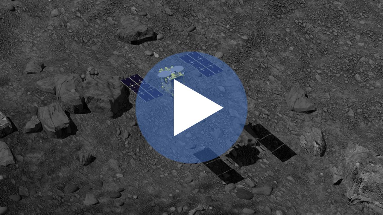 【動画】はやぶさ2のサンプル採取までの動き