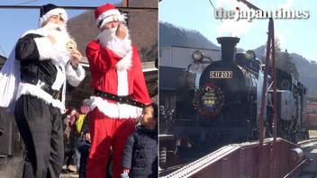 Taiju Christmas steam train in Kinugawa, Tochigi