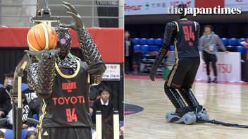 新型バスケットボールロボットCUE4、アルバルク東京ファンにお披露目
