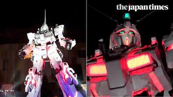 Opening ceremony for Japan's Unicorn Gundam Statue in Odaiba, Tokyo