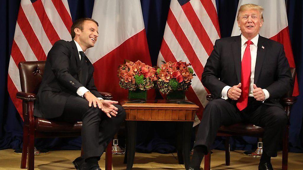 トランプ・マクロン両大統領 山あり谷ありの2人の関係