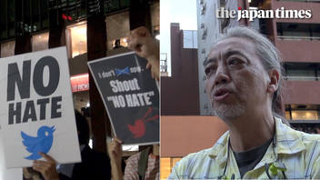 'No Hate Tweet' protest against Twitter in Tokyo